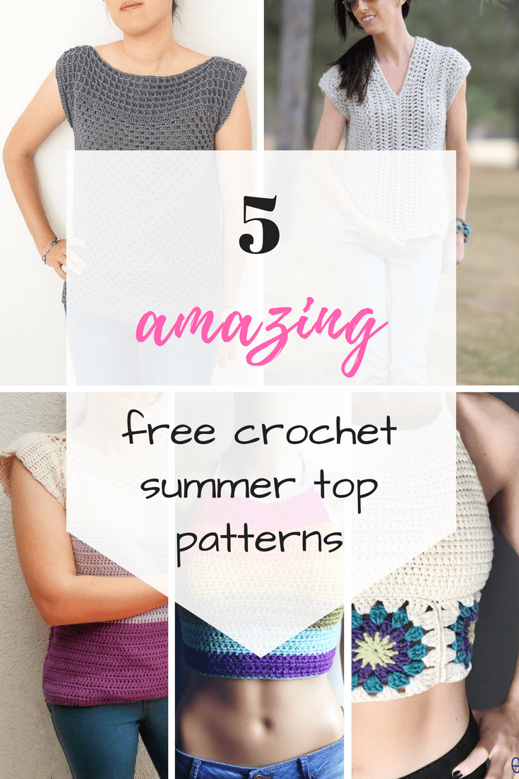Amazing easy and free crochet summer top patterns