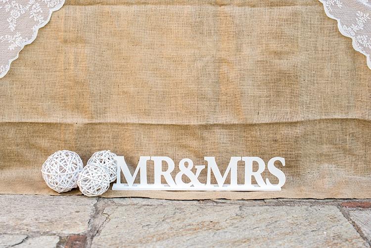 Wedding decoration Mr & Mrs