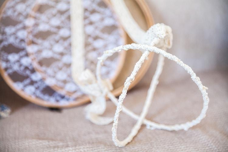 wedding crowns, cotton lace
