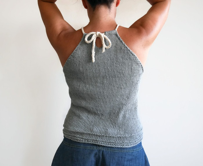 Simple knit top | Last days of summer knit top