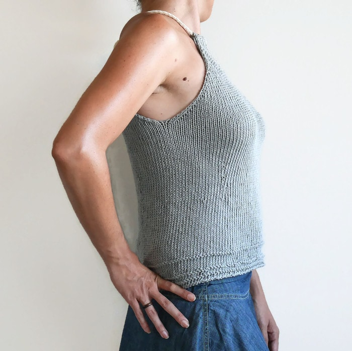Simple knit top | knitting pattern