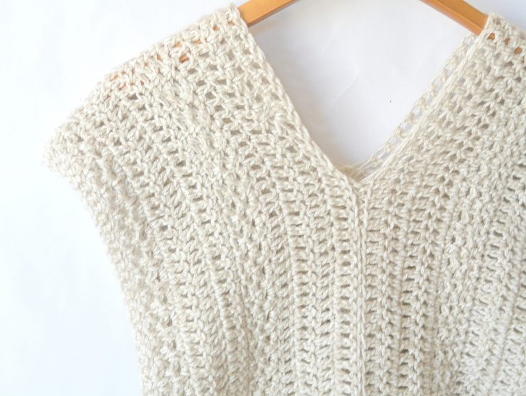 The topcho crochet pattern summer top
