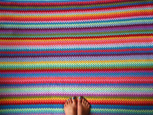 crochet granny stripe blanket free pattern