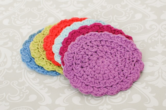 Easy crochet coasters free pattern