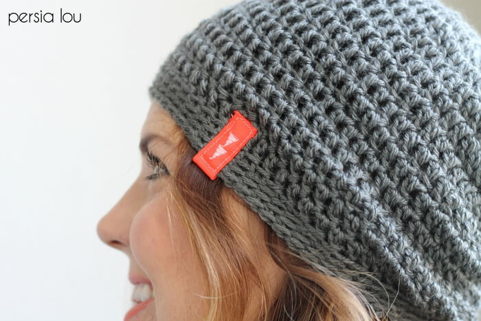 Simple slouch hat crochet free pattern