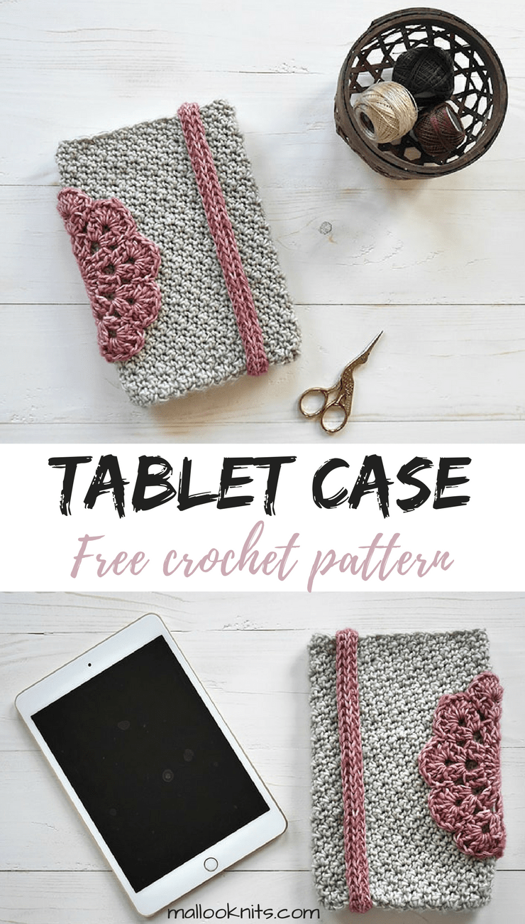 Beautiful and girly crochet tablet case. Go grab your free pattern and make one!