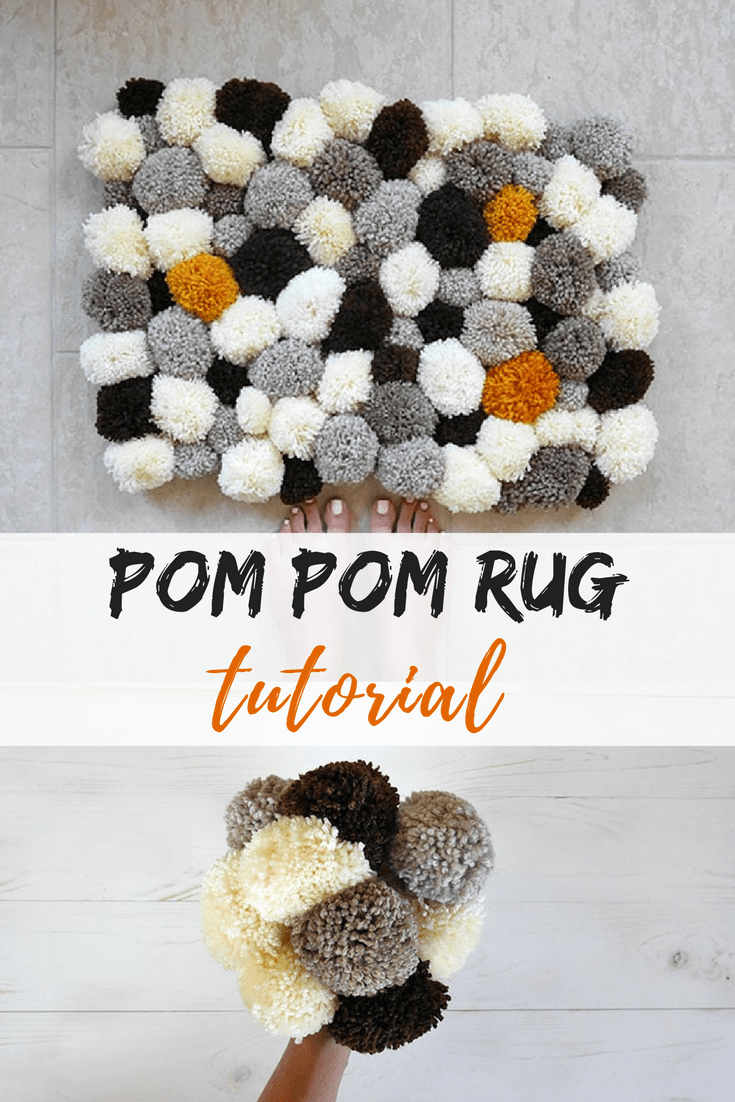 How To Make A Bathroom Pom Rug
