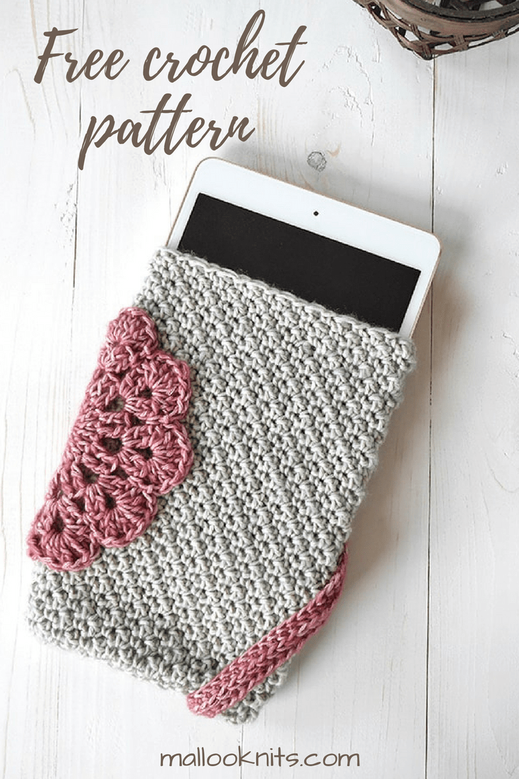 Read about the process that went into making this girly tablet case and then go grab your free pattern to make one of your own.
