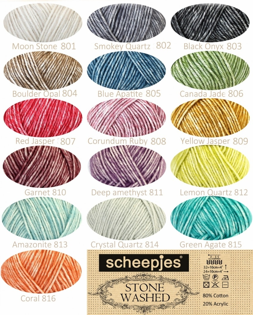 scheepjes stone washed cotton acrylic yarn
