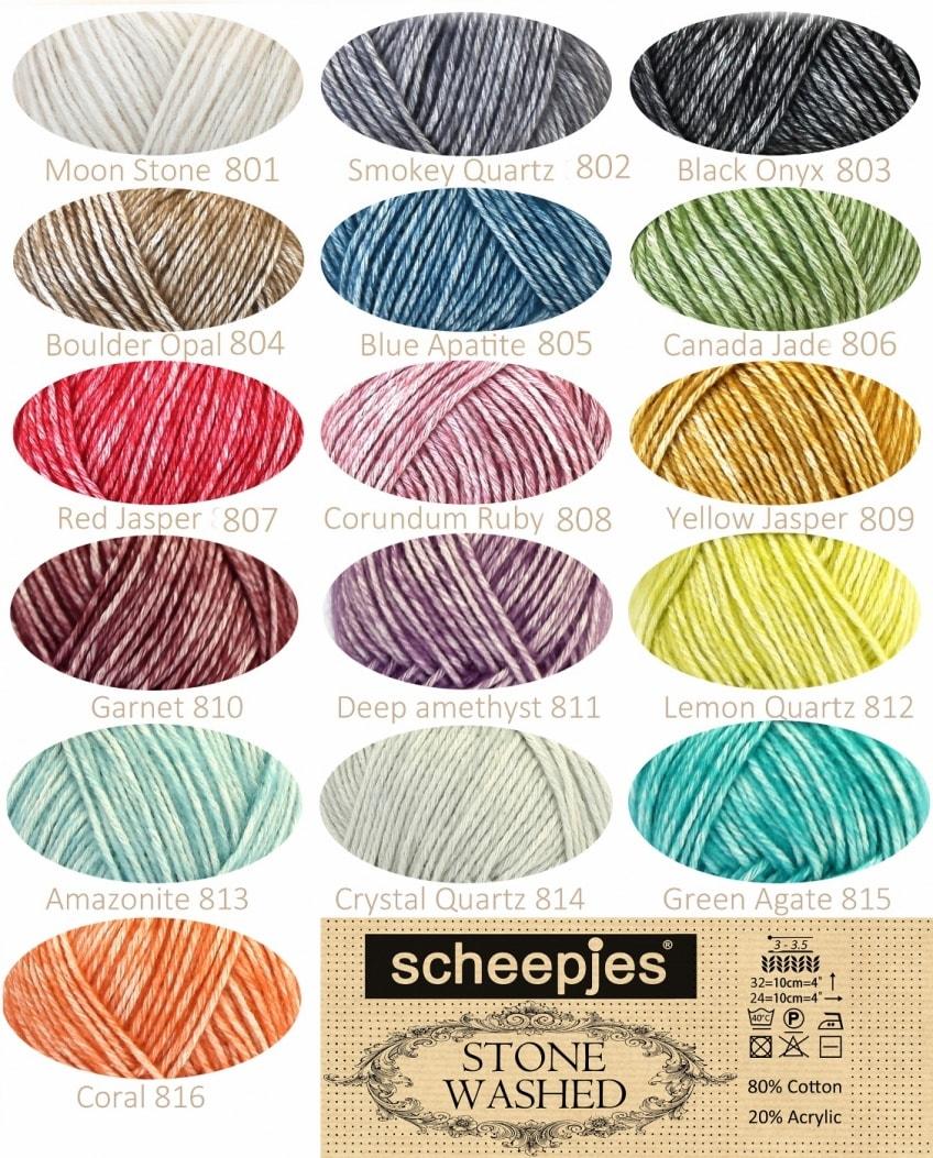 scheepjes stone washed cotton acrylic yarn