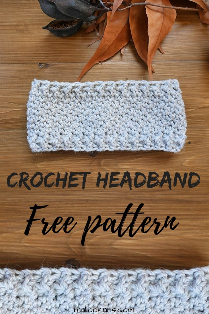 Free Crochet Headband Pattern Mallooknits
