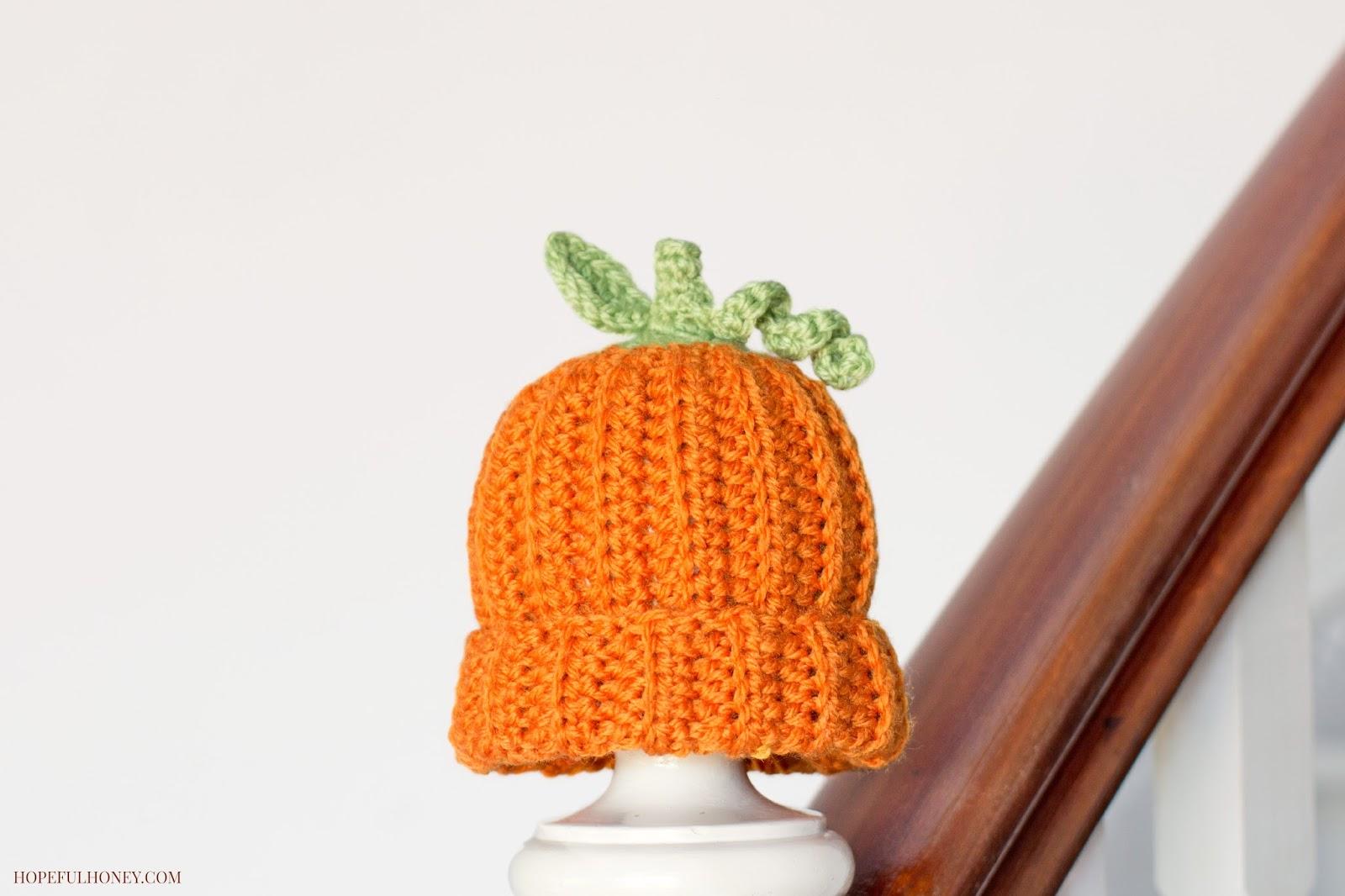 Newborn pumpkin hat free crochet pattern