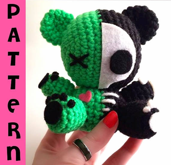 Teddy bear zombie | crochet pattern