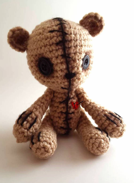 Cute zombie teddy bear | crochet amigurumi