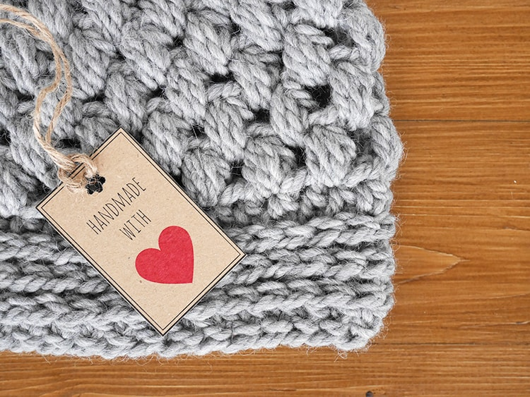 Free download printable tags for your crochet items
