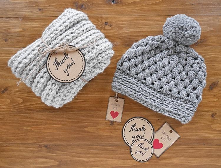 Free printable handmade tags for crochet