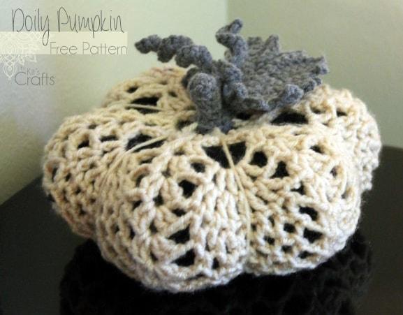 The doily pumpkin free crochet pattern