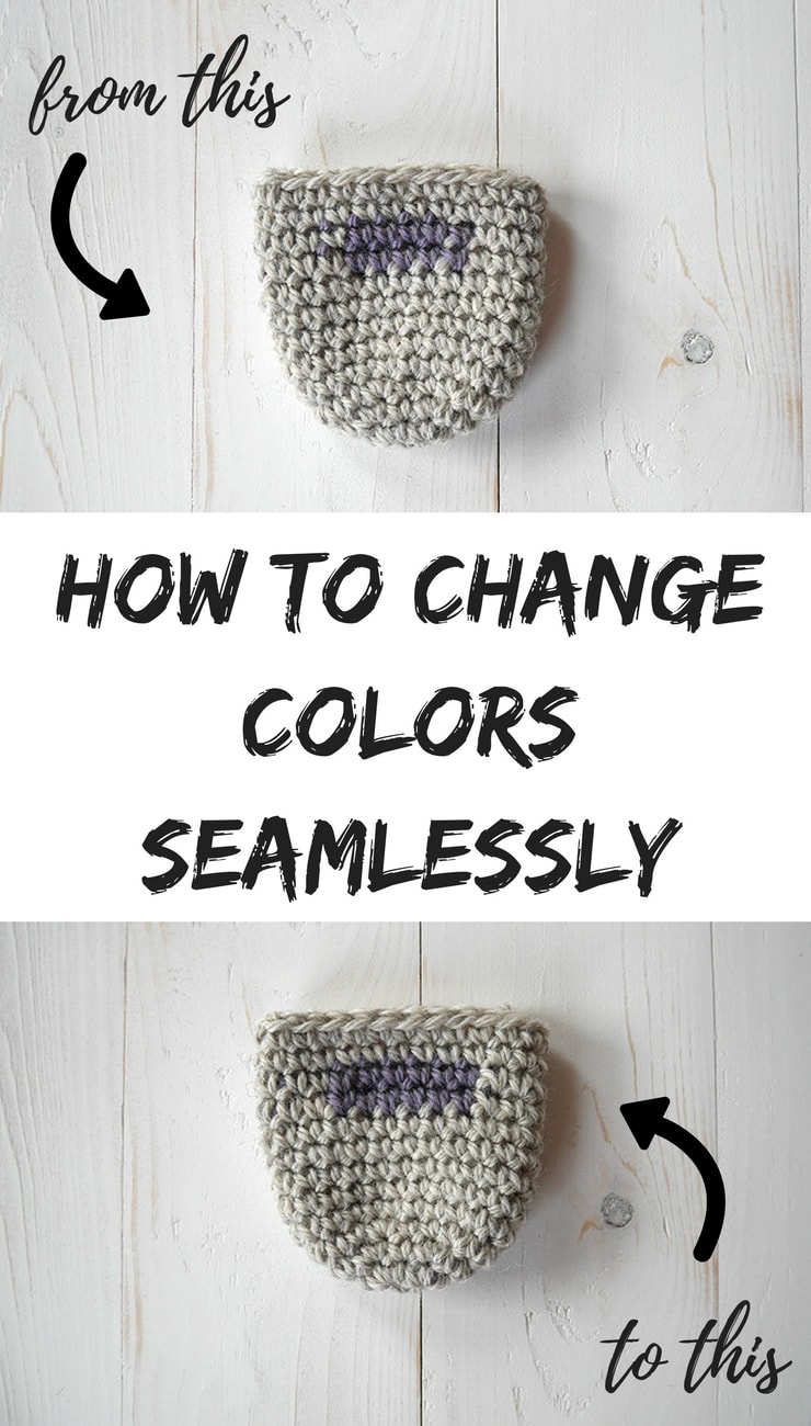 How to change colors in crochet in the round.Use this simple technique to seamlessly change colors when working in the round using single crochet stitches. Especially useful in amigurumi making but not limited there. Photo tutorial #crochet #colorchange