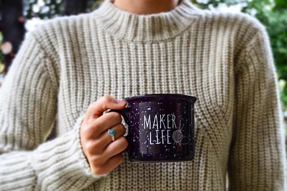 Maker life mug | ultimate gift guide for crocheters
