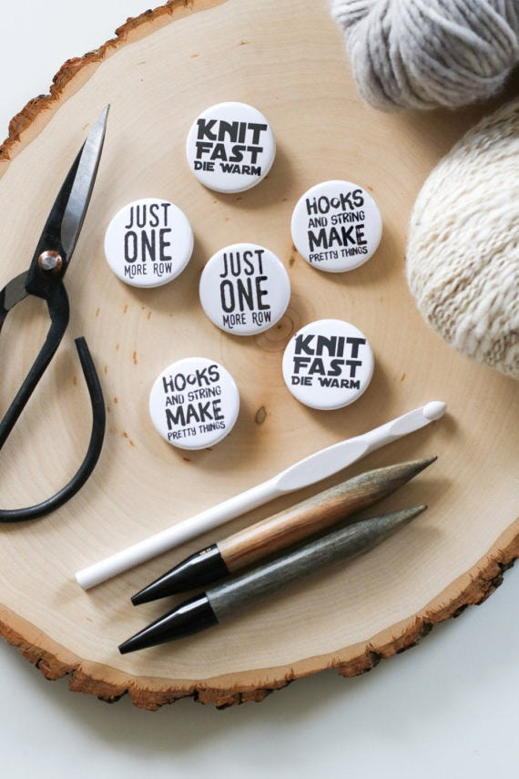 Crafty badges by TL yarn crafts | ultimate gift guide for crocheters