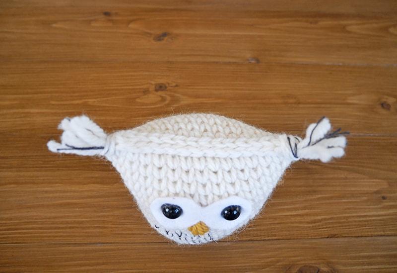 Crochet snow owl amigurumi