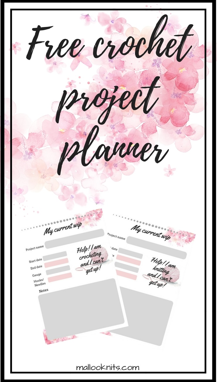 image about Free Printable Project Planner identified as Free of charge printable crochet challenge planner -