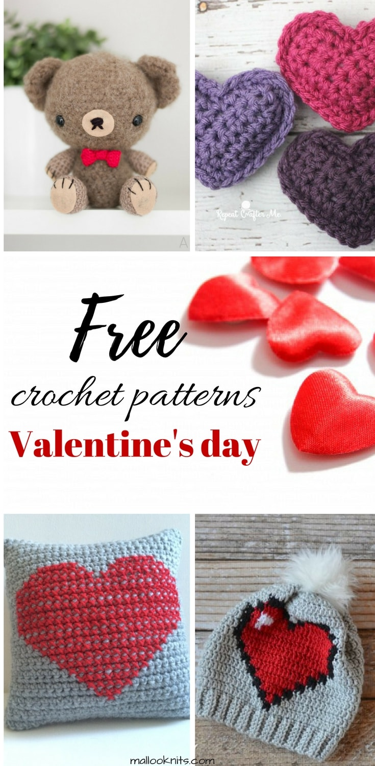 Free crochet patterns for Valentine's day! A collection of the finest crochet patterns for every level.