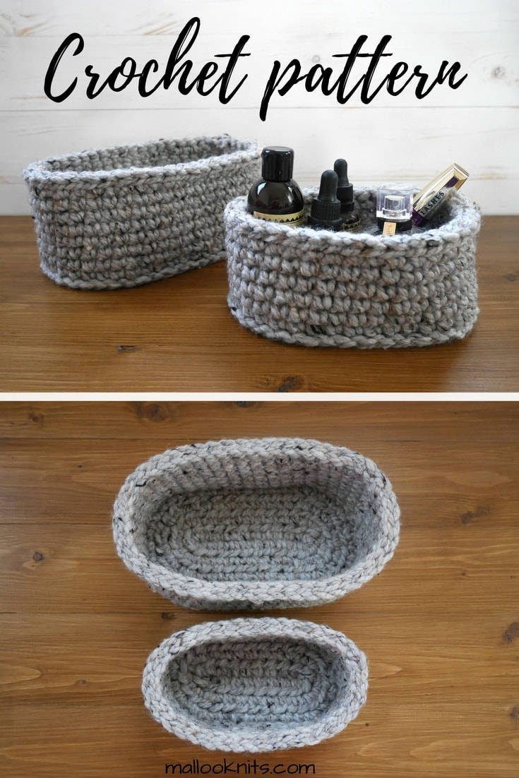 How To Make Your Own Oval Baskets Free Pattern Mallooknitscom