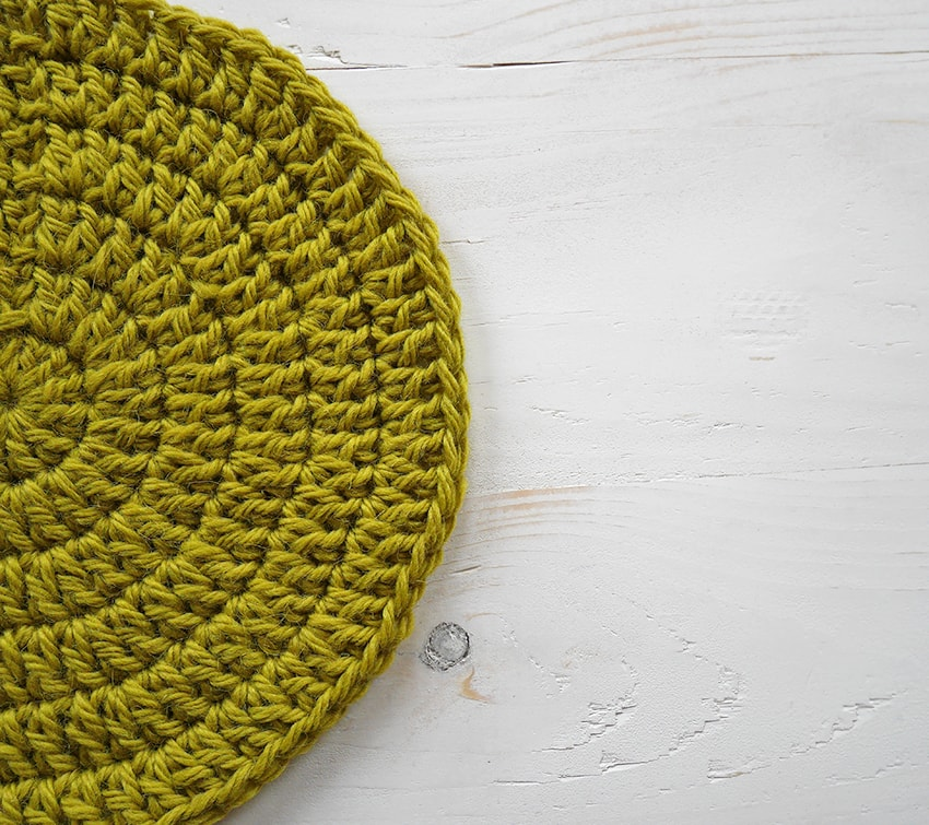 Learn how to make a crochet circle lay flat every time!
