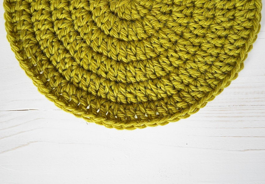 Learn how to crochet a flat circle.