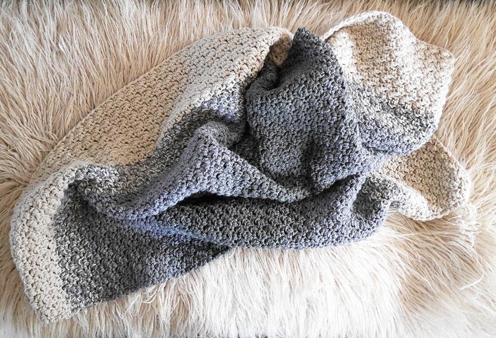 Crochet pattern baby blanket.