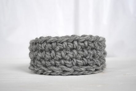 How to make a ridge in crochet using half double crochet stitches and crocheting in the third loop only.