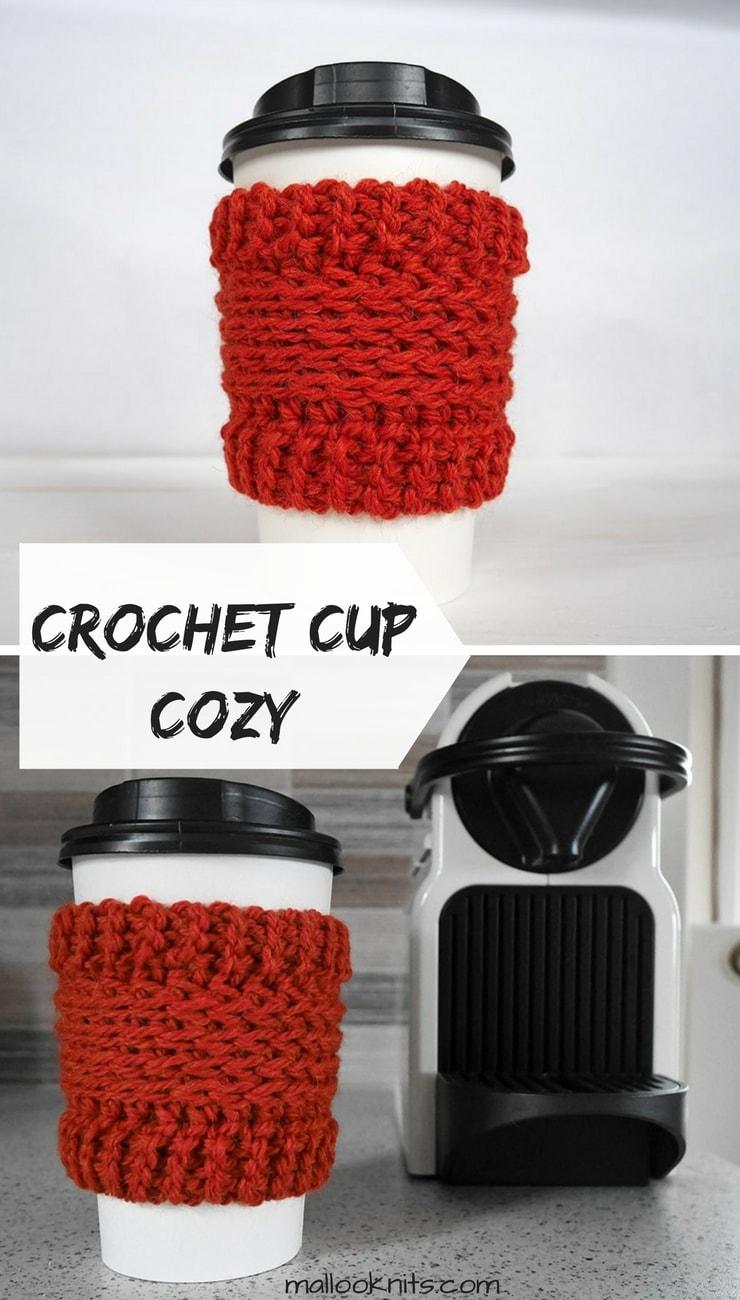 Crochet cup cozy free pattern. Easy, free crochet pattern, great for beginners. Coffee cup cozy free pattern.