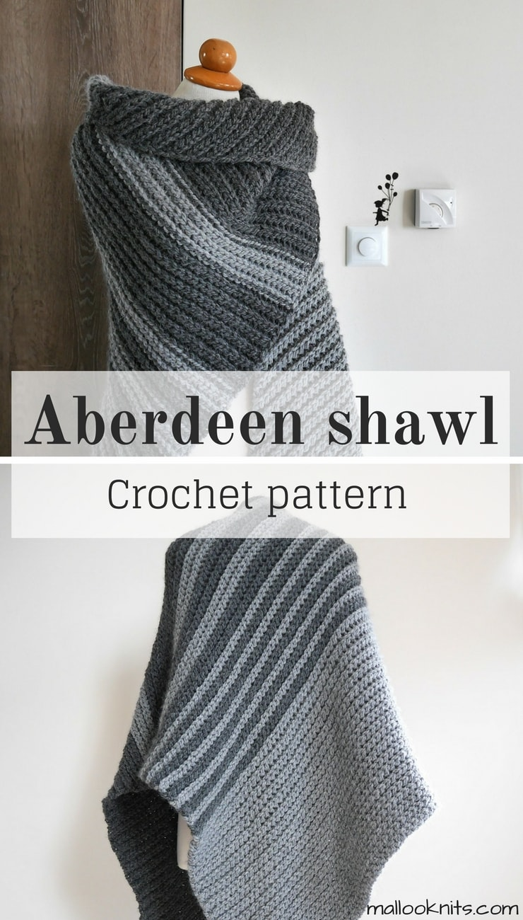 The Aberdeen crochet shawl pattern - mallooknits.com