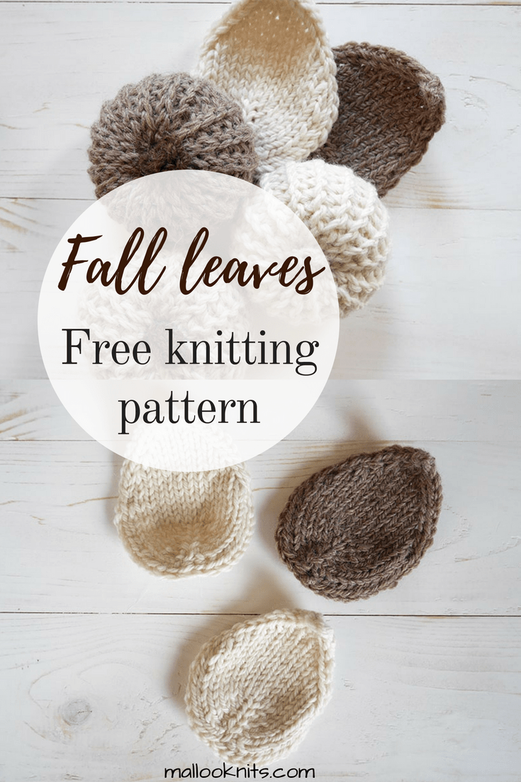 Free knitting pattern for beautiful autumn leaves. Make these leaves to add to your fall decor.