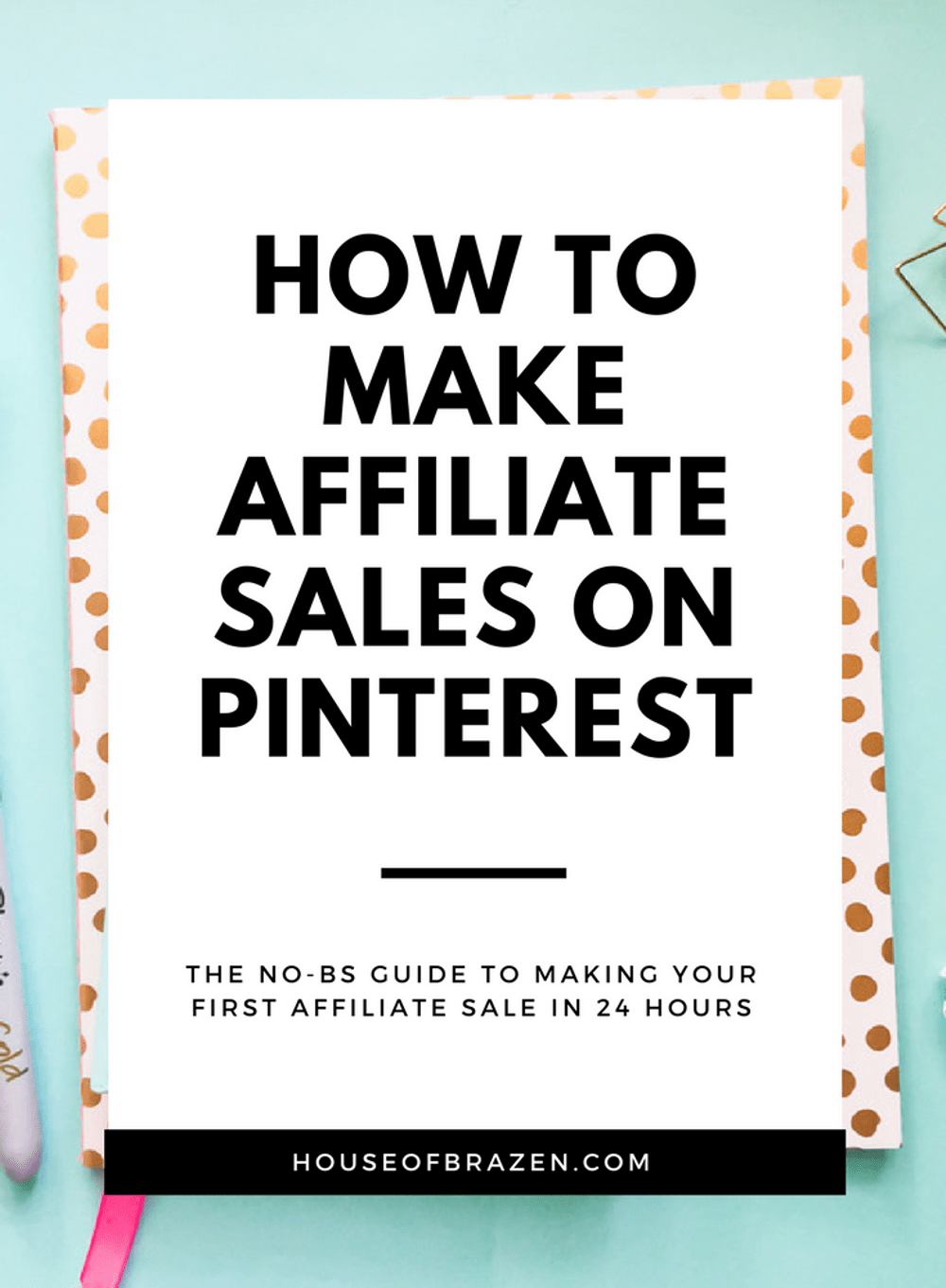 Learn how to make your first affiliate sale with this no-fluff guide! Use the power of Pinterest to supercharge your affiliate marketing efforts. #affiliate