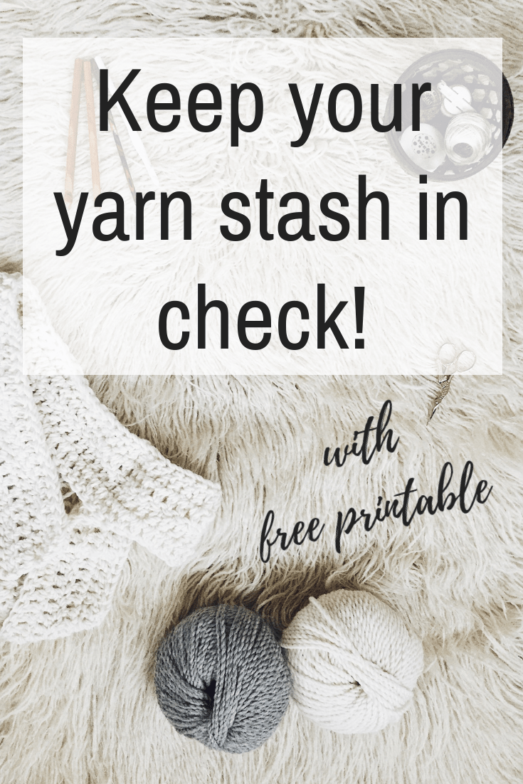 Are you wondering how to keep your yarn stash organized? Use this free printable and editable pdf to your advantage! Track brands, quantities and color codes, all in one place.