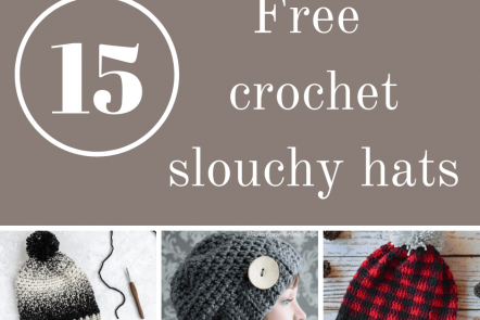 Check out these awesome and free crochet slouchy hat patterns.