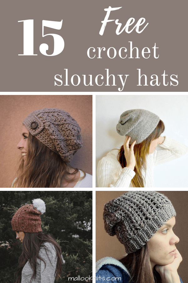 c20f7ac6def Awesome and free crochet slouchy hat pattern roundup. Choose your favorite  now!  crochetslouchhatpattern