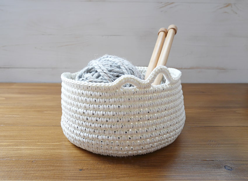 Crochet pattern yarn bowl, diy