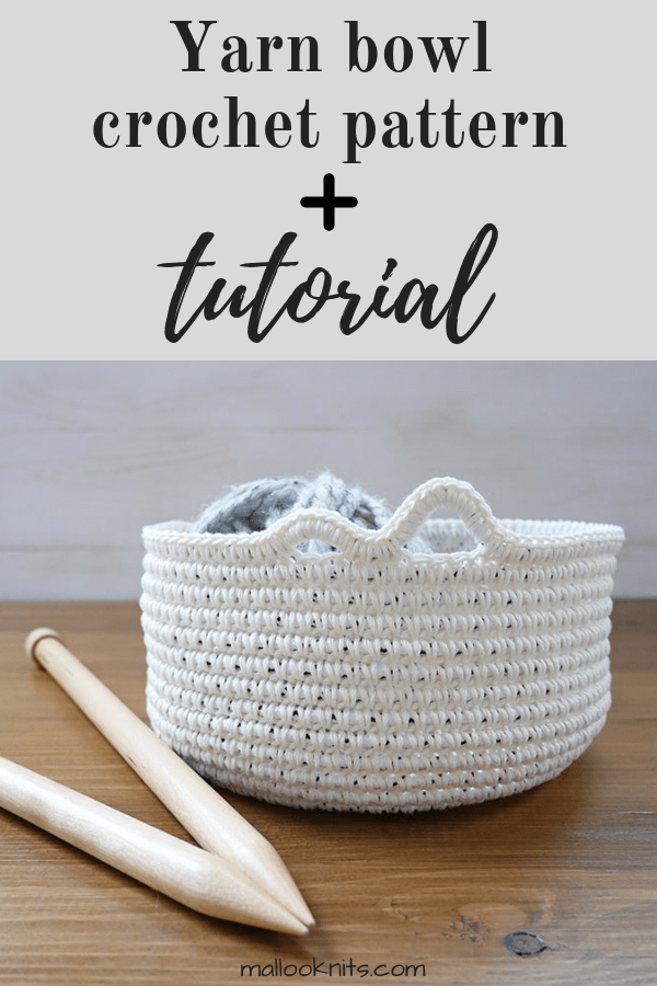 Make a yarn bowl out of stuff you already have in your house. Free crochet pattern and tutorial to customize your own yarn bowl. #yarnbowl #freecrochetpattern #crochettutorial