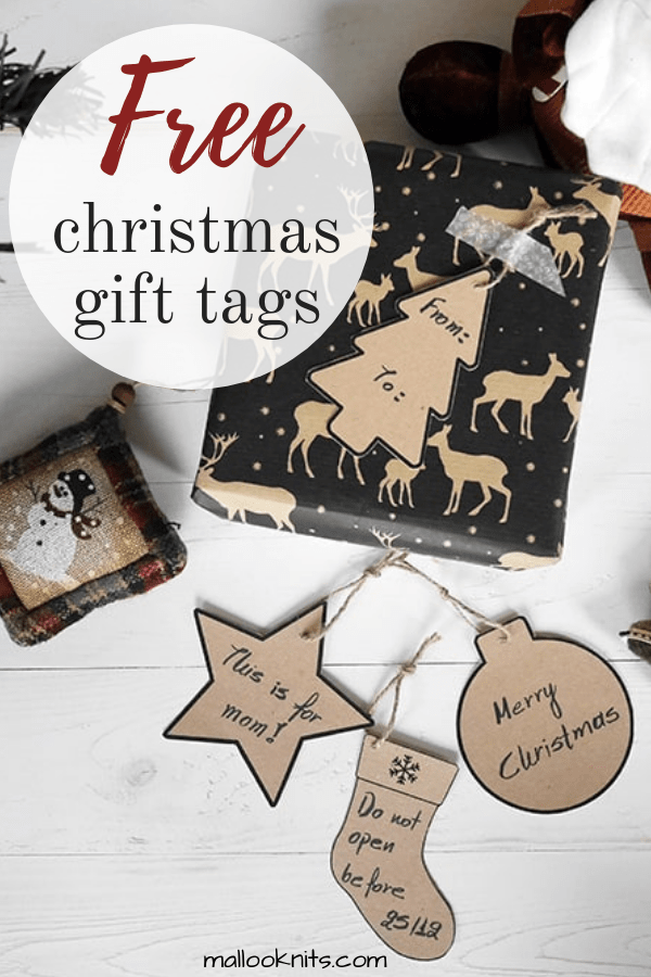 Christmas gift tags free printable. Enjoy the season of gift giving with a small handmade touch on all your Christmas presents. #christmasgifttags #freeprintable #freechristmasprintable