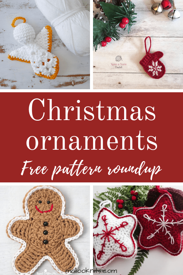 Crochet christmas ornaments free pattern roundup. Find 9+1 free crochet patterns for christmas