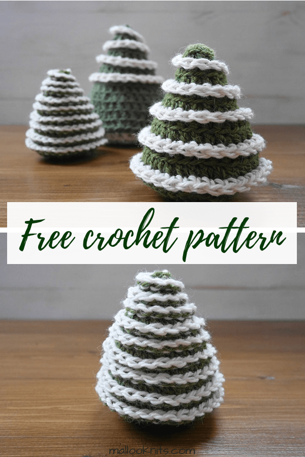 Crochet christmas tree pattern free. Easy crochet pattern, suitable for beginner crocheters. #freecrochetpattern #christmastreepattern #christmasornaments