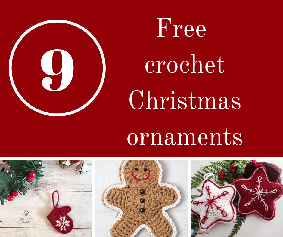 Free pattern roundup for the most beautiful crochet Christmas ornaments.