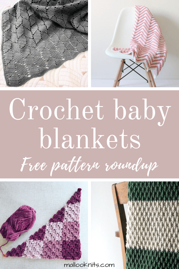 Crochet baby blankets free pattern roundup. This is day 1 of the 7 days of freebies series.