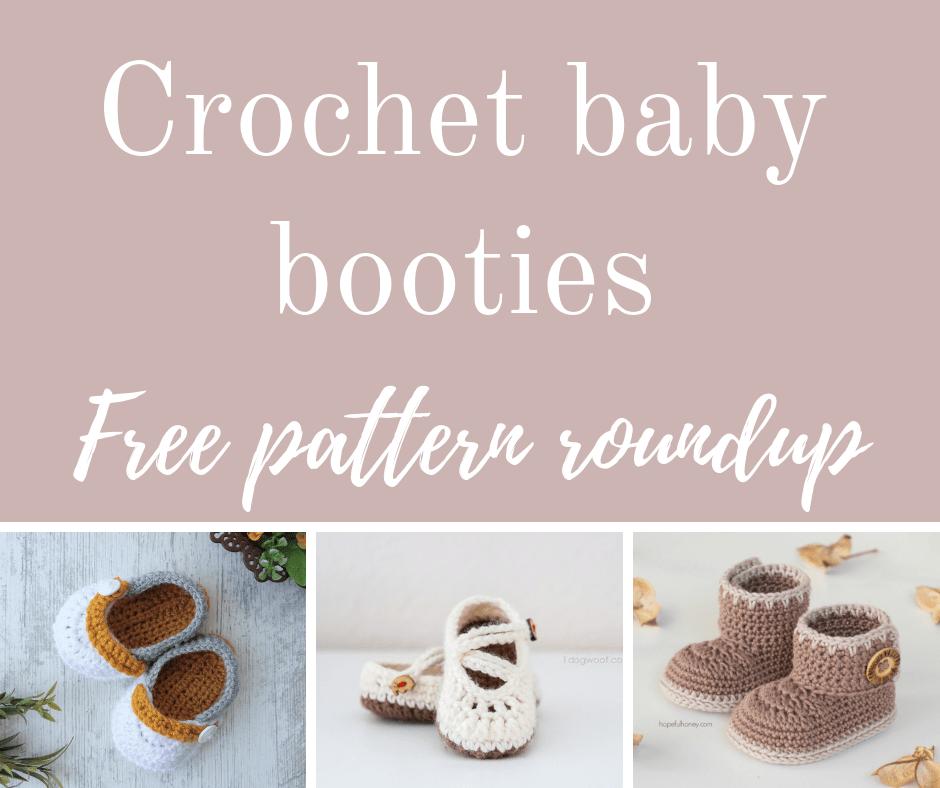 Crochet baby booties free pattern roundup.