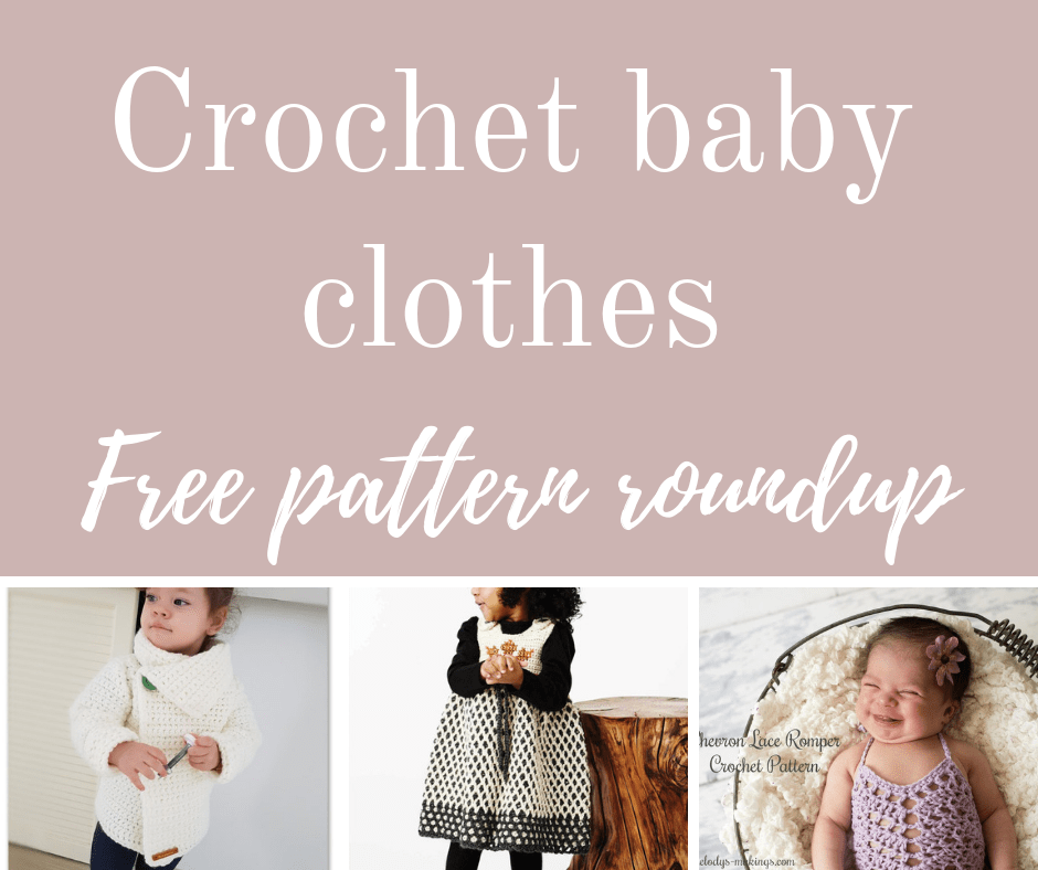 Crochet baby clothes free pattern roundup.