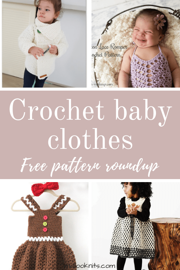 Crochet baby clothes free pattern roundup. This is day 7 of the 7 days of freebies series.
