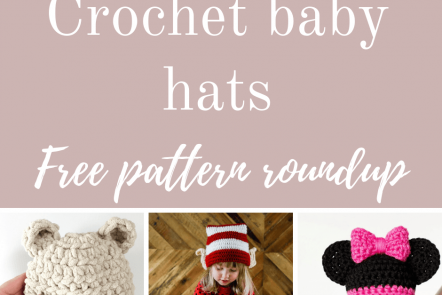 Crochet baby hats free pattern roundup